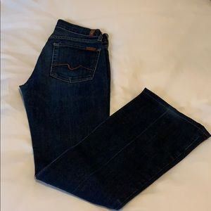 7 for All Mankind flare jeans. Size 27.